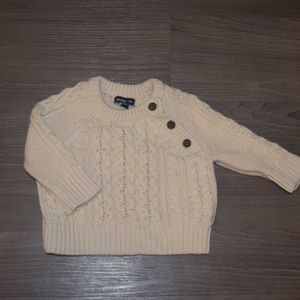 Baby cable knit sweater, 3-6 months
